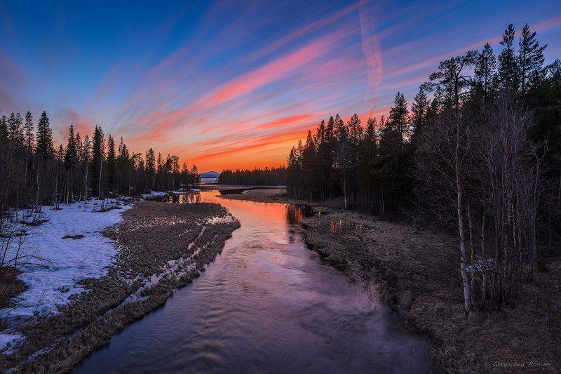 кольский, север,заполярье, колвица, весна, вечер, закат, На Колвице вечер.photo preview