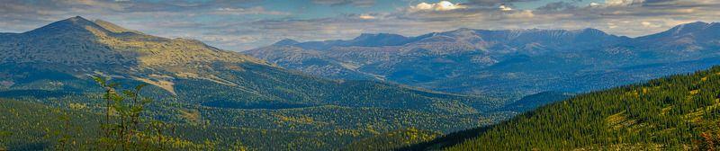 пейзаж, горы, Кемеровская область, осень  г. Двуглаваяphoto preview