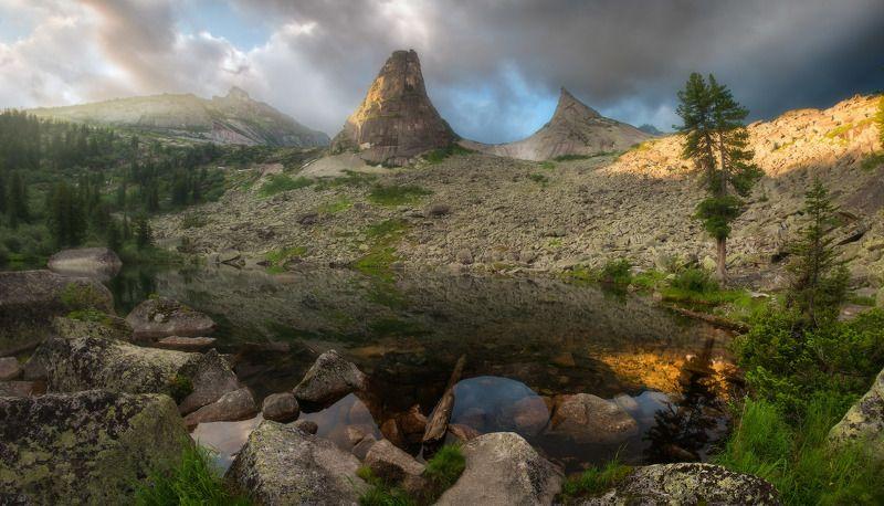 ергаки, горы, саяны, лето, сибирь, озеро, художников, озерохудожников, парабола Утро на Параболеphoto preview
