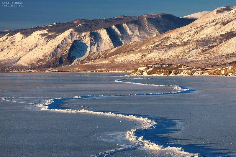 байкал, малое море, ольхон, лед, зима, Байкальская зимняя змея.photo preview