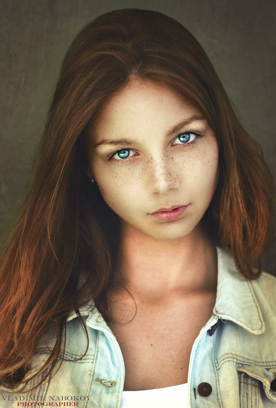 портрет ретушь модель веснушки  Святославаphoto preview