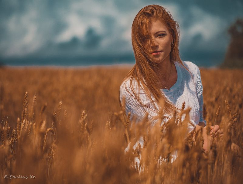girl, female, pretty, portrait, redhead Summer memories..photo preview