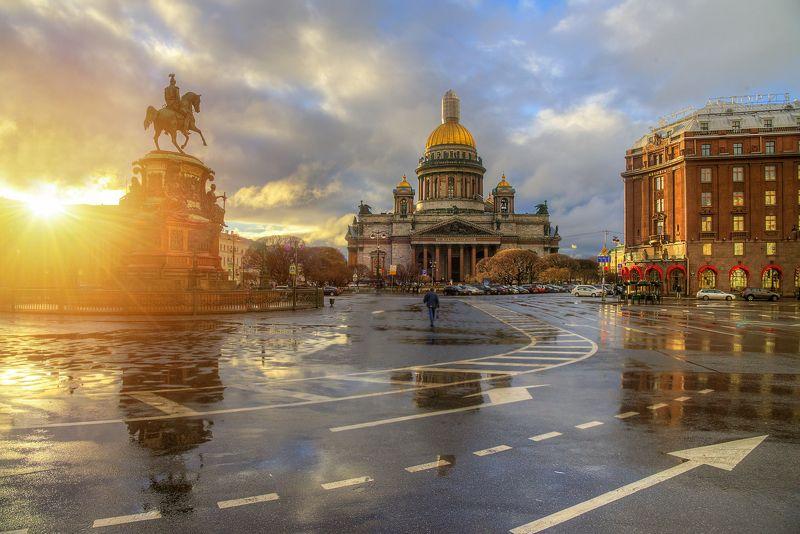 Исаакиевская площадь. Апрель..photo preview
