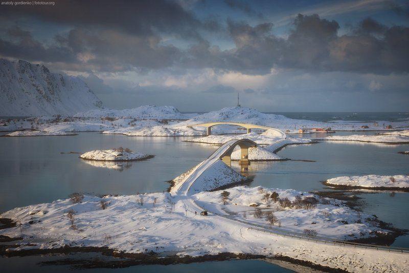 норвегия, лофотены, мосты Fredvang bridgesphoto preview