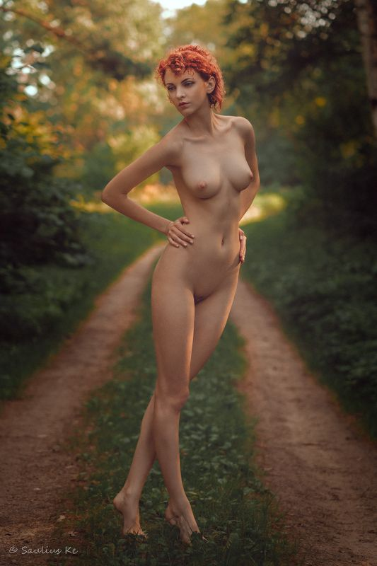 naked, girl, nude, female, body, pose, outdoors, summer Gretaphoto preview