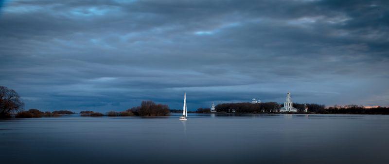 Апрельский вечер близ Новгорода .photo preview
