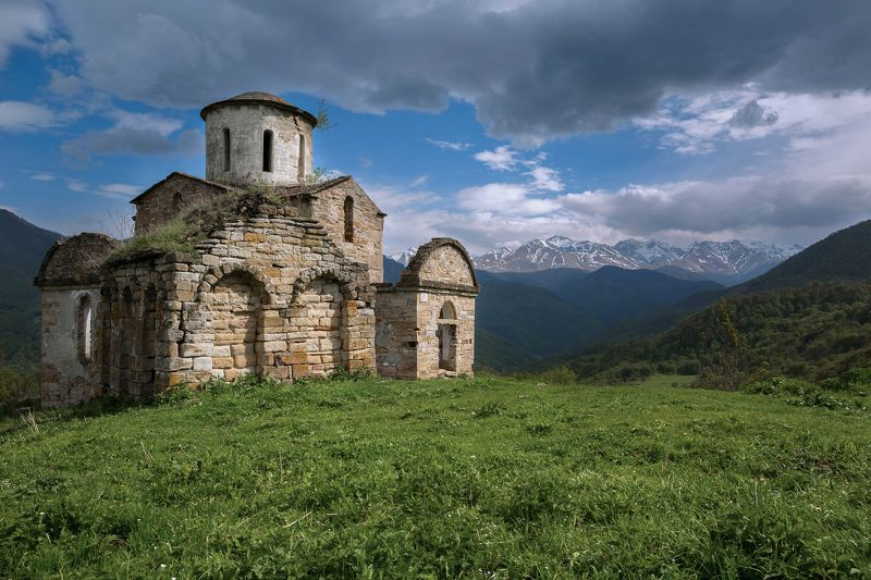 кчр,карачаево-черкесия,горы ,сентинский храм,теберда Сентинский Храм ...photo preview
