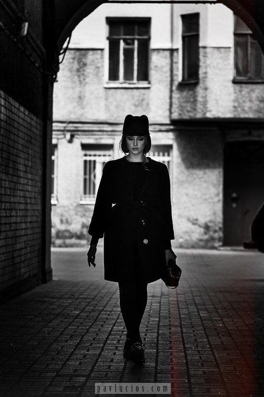 Чб, портрет, улица **photo preview