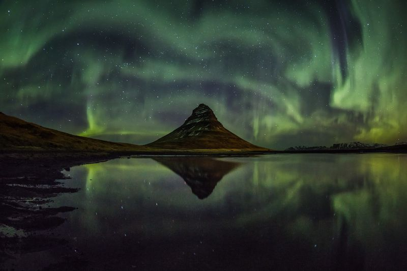 Iceland Kirkjufell Tesla coil in action;)photo preview