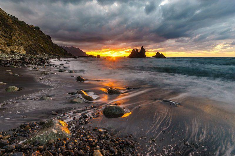 Sunset on Benijo beachphoto preview