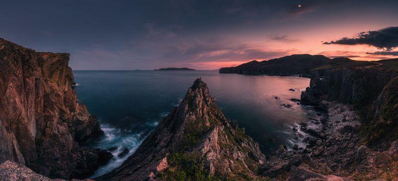 сумерки, море, скалы, небо, ***photo preview