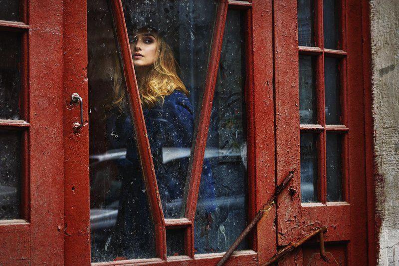 цвет, портрет, улица, девушка, Street **photo preview