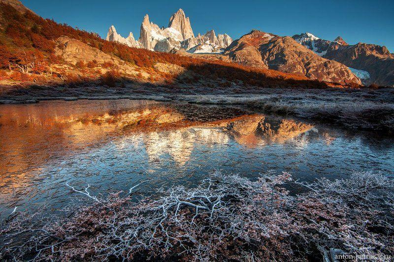 патагония, горы, рассвет, аргентина Магия осениphoto preview