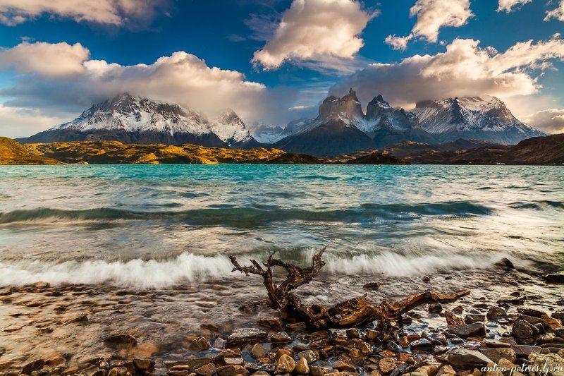 патагония, горы, рассвет, торес дель пайне Бирюза Торрес дель Пайнеphoto preview
