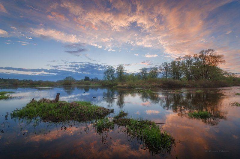 пейзаж, закат, угра, весна Майские темы...photo preview