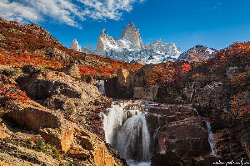 патагония, горы, рассвет, аргентина Фитц Ройphoto preview