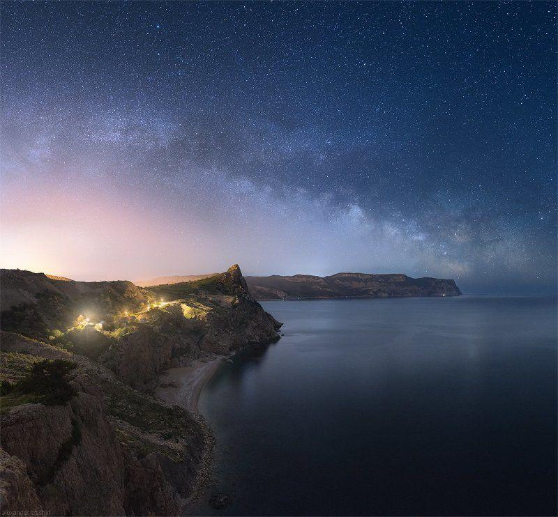 крым, балаклава, ночная фотография, млечный путь, пейзаж Warm Spring Nightphoto preview