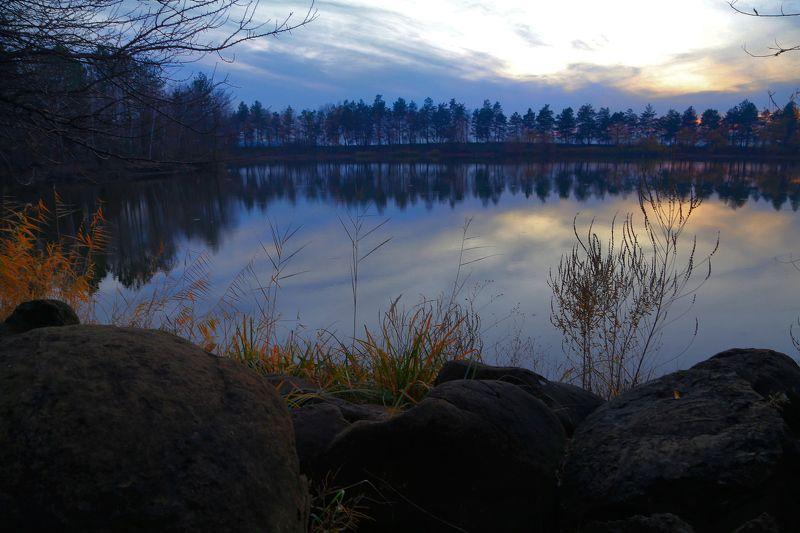 гончарка, озеро, закат, камни Озеро Камней после закатаphoto preview