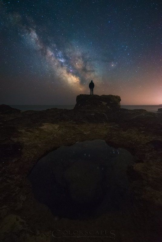 astro, astrophotography, night, stars, milky way, sea, seashore, black sea, bulgaria, man Stargazerphoto preview