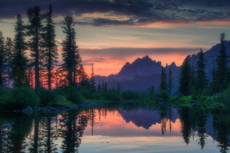 ергаки, горы, саяны, лето, сибирь, лазурное Вечер на Лазурномphoto preview