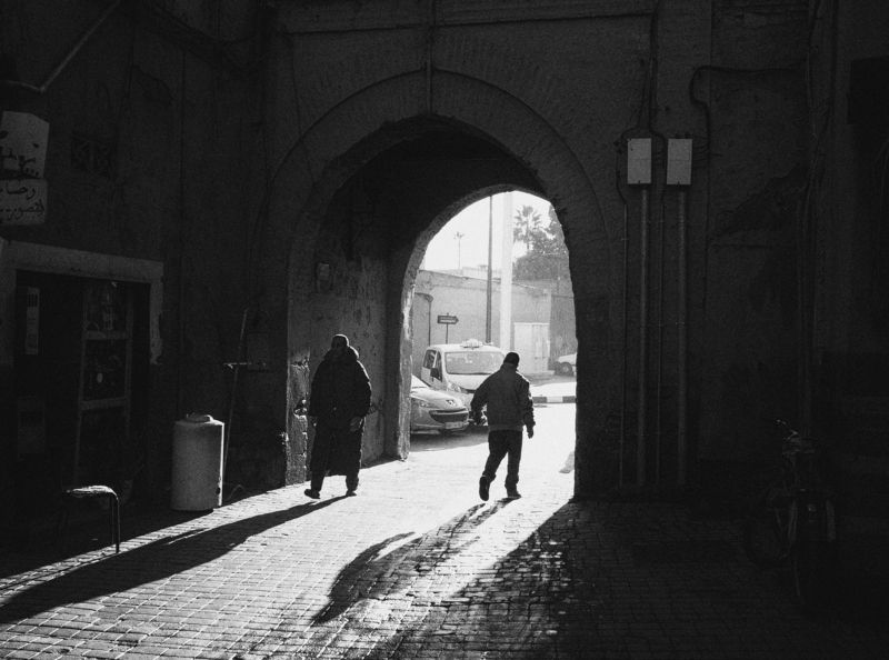 black and white , street , street photography Marrakech\'s afternoonphoto preview