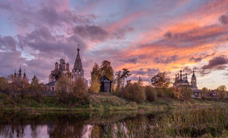 солигалич, церкви, закат Цветопредставление в Солигаличеphoto preview