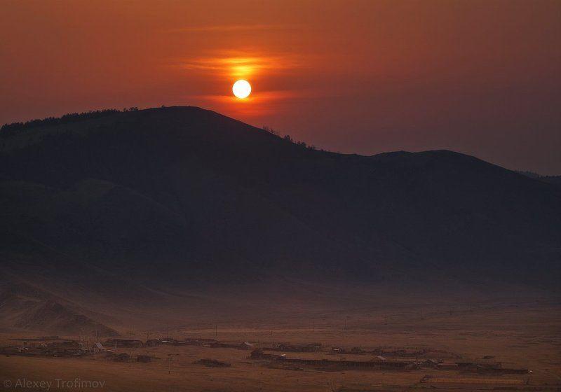 байкал, анга, закат Вечер в долине Ангиphoto preview