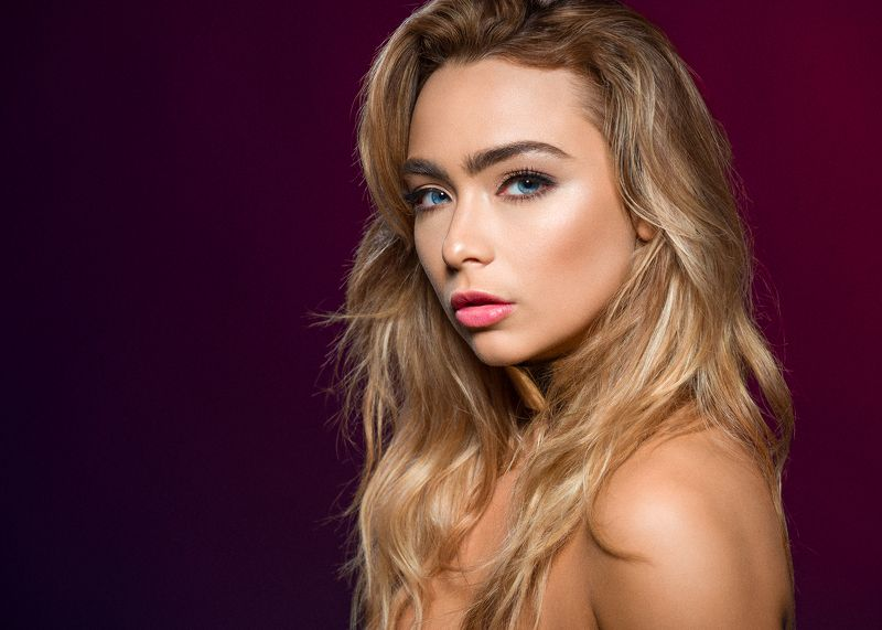 girl, female, pretty, portrait, studio, blonde, make up Caitlinphoto preview