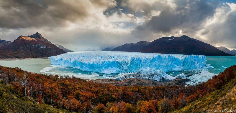 патагония, горы, закат, аргентина, ледник Лед и пламяphoto preview