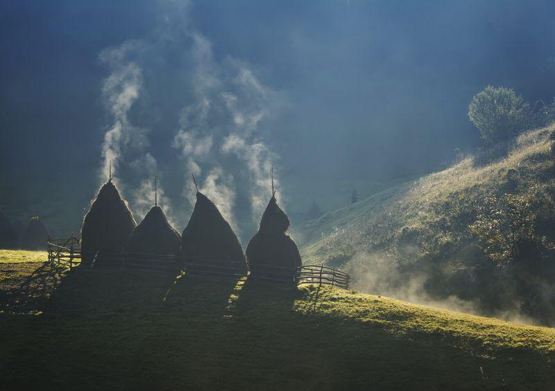 landscape, mountain, light, nature, пейзаж, природа, горы, rural, idyll, village,home, sunrise Soulsphoto preview