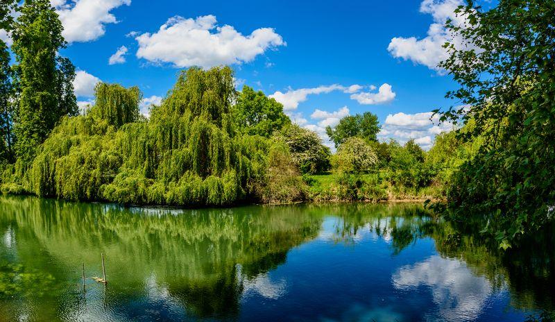 spring, river, blue sky Весеннее...photo preview