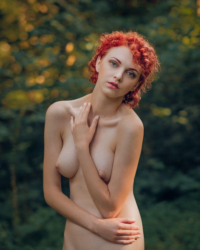 girl, female, pretty, nude, nature, model, body, outdoors Retro girlphoto preview