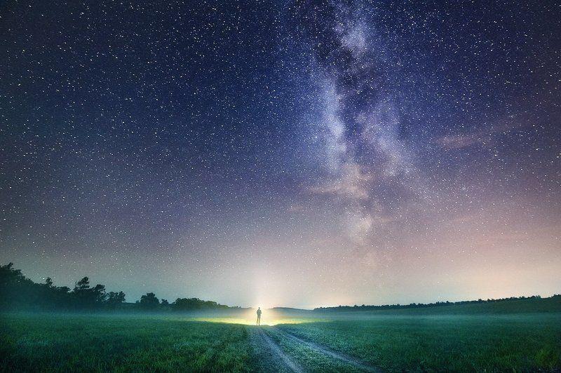 млечный путь звезды ночь длинная выдержка Звездная Пыльphoto preview