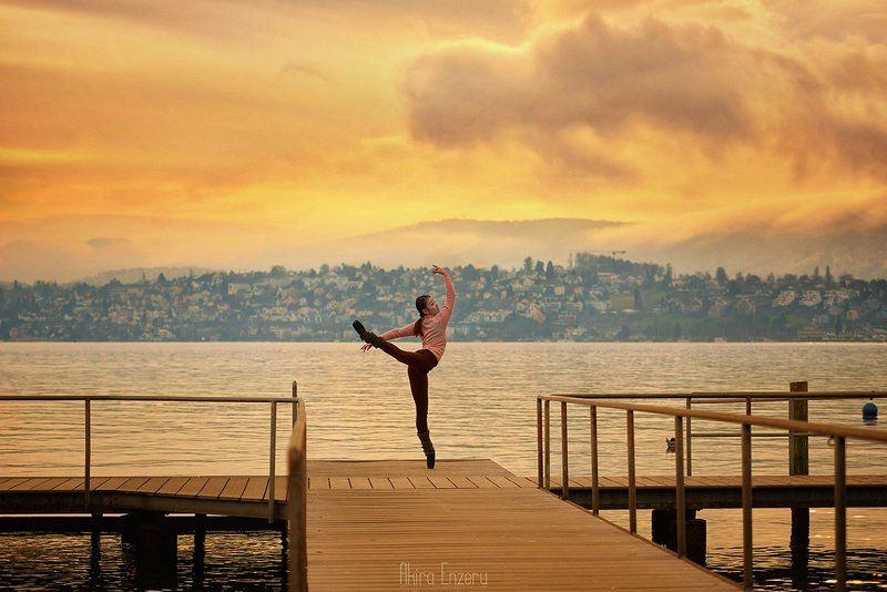 ballerina, dance, dancing, portrait, street Sunset on Zürichseephoto preview