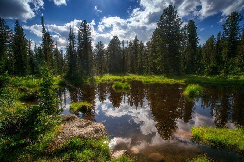 ергаки, горы, саяны, лето, сибирь Солнечным днемphoto preview