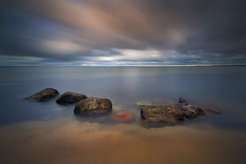 poland, baltic sea, long exposure, palisade, pier, sand Baltic Seaphoto preview
