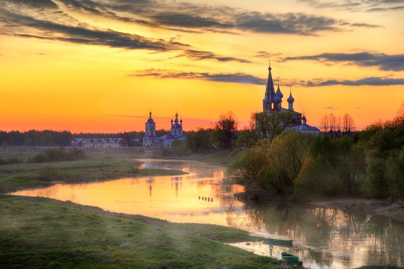 дунилово, май, рассвет.. майский рассвет в селе Дунилово...photo preview