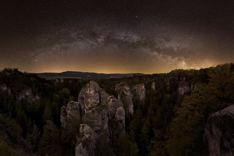 czech paradise, czech republic, milky way, starscape, Czech Paradise..photo preview