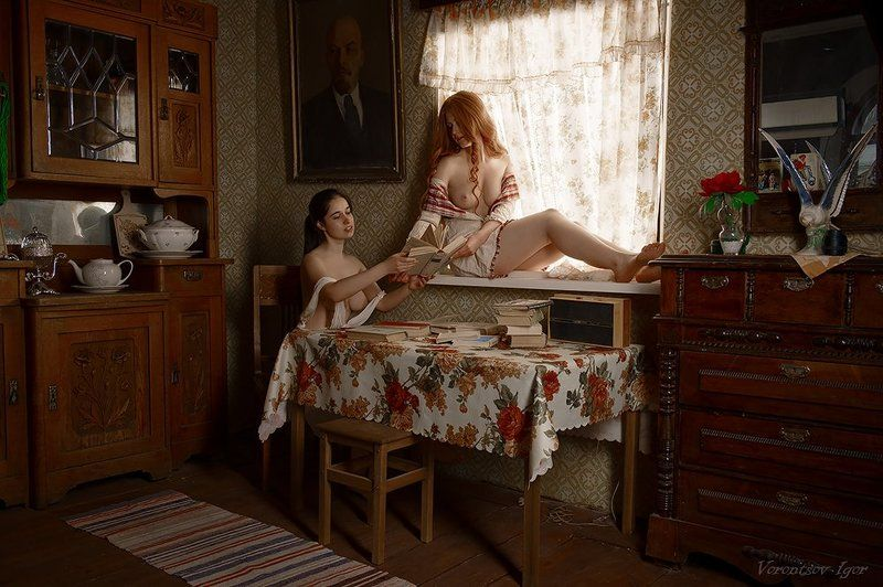 ню, девушки, грудь, обнажённая Жаркое чтиво...photo preview