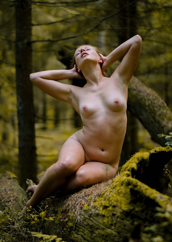 girl, female, pretty, nude, nature, model, body, outdoors Alonephoto preview
