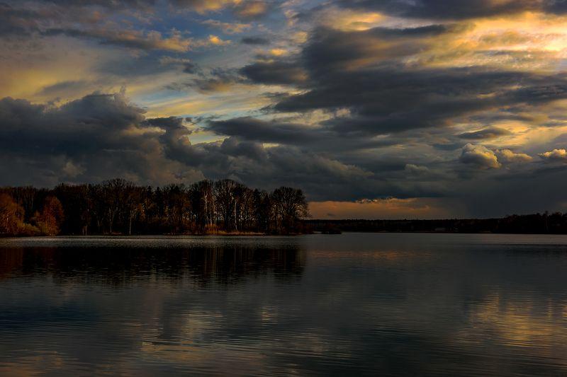 закат, озеро, облака Закатный светphoto preview