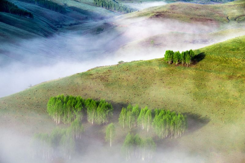 valley,fog,mist,colors,nature, The valleyphoto preview