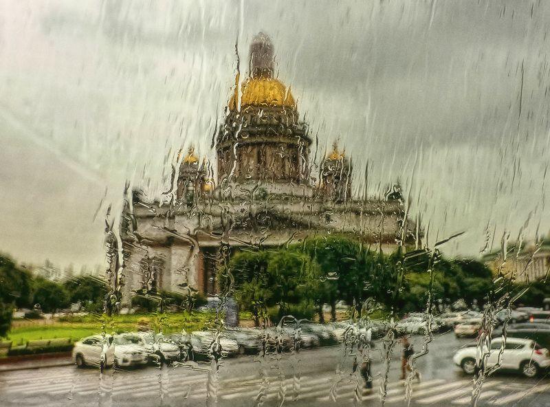 дождь ; санкт-питербург Питерский дождь...photo preview