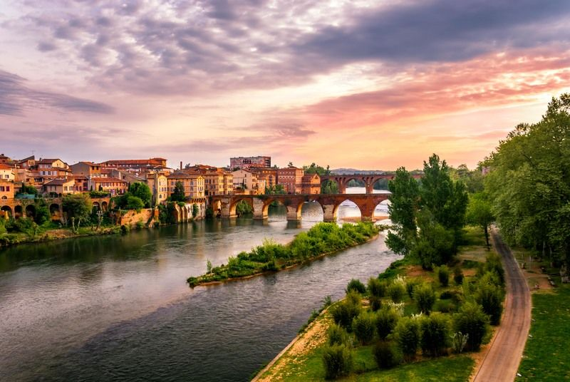 albi, france, sunset, tarn, tarn river. Альби на закате.photo preview