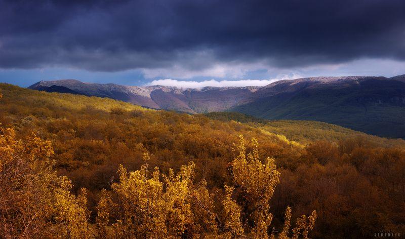 крым, горы, облачность, кемаль-эгерек. Вид на Кемаль-Эгерек.photo preview