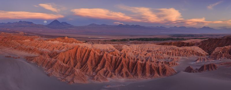 region de antofagasta, san pedro de atacama, scenery, valle de la muerte, valley of the death, view from above, volcano, worldпхотоtravels, arid, aridity, atacama,  badlands, barren, chain, chile, cordillera de la sal, country, death, death valley, desert Долина Мертвых и вулкан Ликанкабур.photo preview