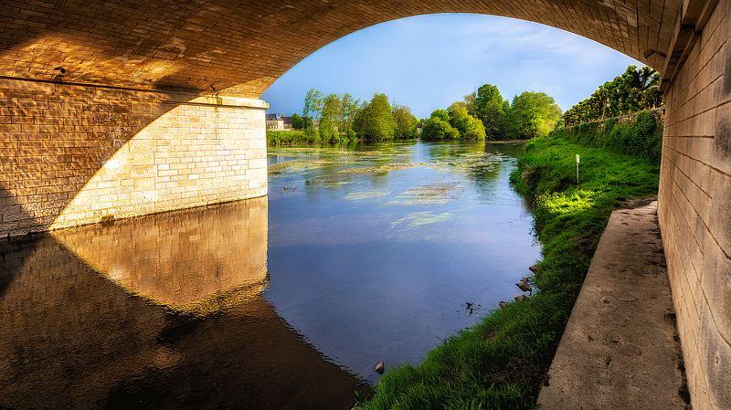 river, bridge, evening Дело к вечеруphoto preview
