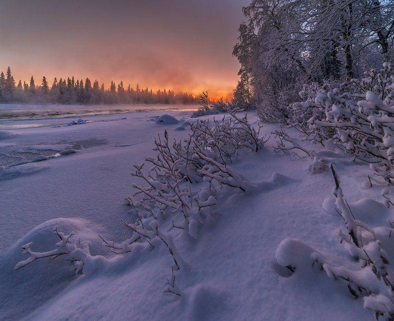 север, кольский, хибины, заполярье, умба Парила Умба в декабре.photo preview