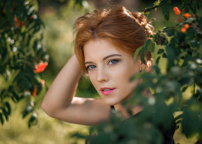 girl, female, pretty, portrait, redhead, summer Summer memories..photo preview