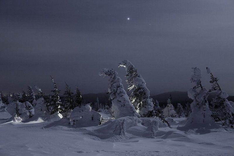 урал,зима,таганай,белый,горы,снег,ночь Поклонение звездеphoto preview